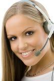 Representante del servicio de atención al cliente foto de archivo