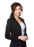 Representante/delegado de servicios de atención al cliente Imagenes de archivo