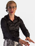 Representante do serviço ao cliente frustrado no telefone Foto de Stock