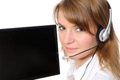 Representante do serviço de atenção a o cliente Imagens de Stock