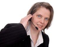 Representante do serviço de atenção a o cliente Fotografia de Stock