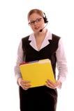 Representante do serviço de atenção a o cliente Imagem de Stock