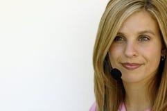 Representante do serviço de atenção a o cliente (espaço para o texto) Fotografia de Stock Royalty Free