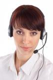 Representante fêmea do serviço de atenção a o cliente Fotos de Stock Royalty Free