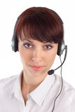 Representante femenino del servicio de atención al cliente Fotos de archivo libres de regalías