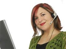 Representante hermoso del servicio de atención al cliente Fotos de archivo