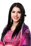 Representante indiano feliz do serviço de atenção a o cliente Fotos de Stock