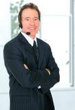 Representante sênior feliz do serviço de atenção a o cliente Fotos de Stock Royalty Free