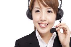 Representante sonriente de la empresaria y del cliente fotografía de archivo libre de regalías