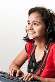 Representante sonriente femenino indio del cliente Imagen de archivo libre de regalías