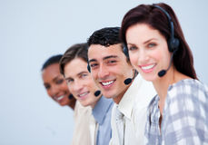 Representantes confidentes del servicio de atención al cliente Imagen de archivo libre de regalías
