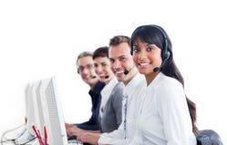 Representantes positivos do serviço de atenção a o cliente Fotografia de Stock