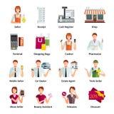 RepresentantFlat Color Icons uppsättning Arkivfoto