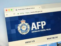 Representanthomepage av den australiska federala polisiära AFPEN Arkivfoton