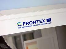 Representanthomepage av den europeiska gränsen och kustbevakningen Agency - Frontex Royaltyfri Bild