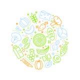 Representação do fundo do alimento de Healty Fotos de Stock