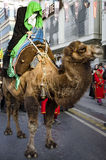 Representation on the camels to revive Karbala. Istanbul, Turkey - October 11, 2016: Representation on the camels to revive Karbala in the seventh century takes Royalty Free Stock Image