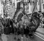 Representation on the camels to revive Karbala. Istanbul, Turkey - October 11, 2016: Representation on the camels to revive Karbala in the seventh century takes Stock Images
