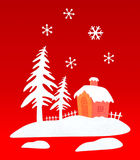 Representation with Christmas house Royalty Free Stock Image