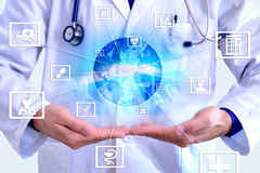 Representation communication fields of medicine and globalizatio Royalty Free Stock Photo