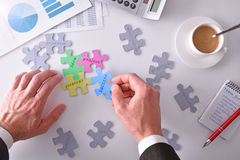 Representation and concept of problem solving and project develo Stock Photo