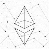 Representation of the Ethereum network. Royalty Free Stock Photos