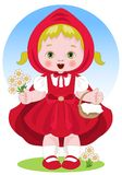 Representation of the fairy tale of Little Red Riding Hood Stock Photo