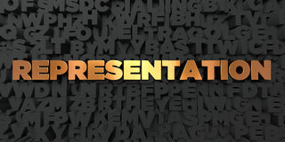 Representation - Gold text on black background - 3D rendered royalty free stock picture. This image can be used for an online website banner ad or a print Royalty Free Stock Image