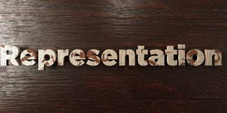 Representation - grungy wooden headline on Maple  - 3D rendered royalty free stock image. This image can be used for an online website banner ad or a print Stock Photos