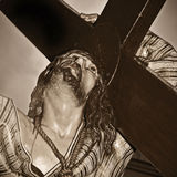 Jesus Christ carrying the holy cross Royalty Free Stock Photography