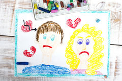 Representation of marriage break up or divorce Stock Images