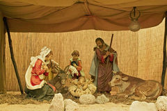Representation of the nativity Stock Photo