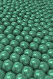 Background with emerald tight pearls. Representation of overpopulation and social pressure Stock Photography