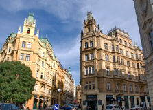 Representative architecture in the Jewish Quarter of Prague Royalty Free Stock Photo