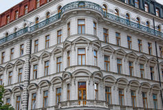 Representative architecture of Wenceslas Square in Prague Royalty Free Stock Image