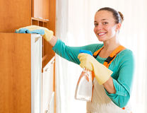 Representative of a cleaning company Stock Photo