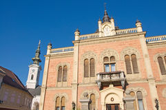 Representative Episcopal Palace in Novi Sad. Is located at the end of the central street. The palace is the seat of ecclesiastical authority. It was built in royalty free stock photos