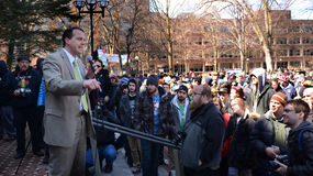 Representative Jeff Irwin at Ann Arbor Hash Bash 2014 Stock Photos