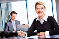 Representative woman Stock Photo
