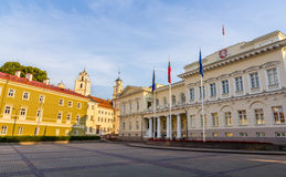 Representative yard and Presidential Palace in Vilnius Royalty Free Stock Images
