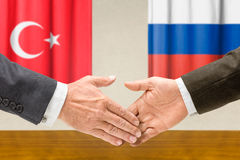 Representatives of Turkey and Russia Royalty Free Stock Images