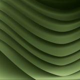 Represente el modelo del origami de hojas curvadas del gre Imagenes de archivo