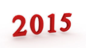 Represents the new year 2015 Stock Photography