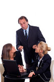 Reprimand at office Stock Image