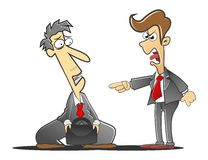 reprimanded босс стоковые фото