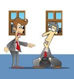 reprimanded босс Стоковое Фото