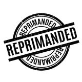 Reprimanded rubber stamp Royalty Free Stock Image