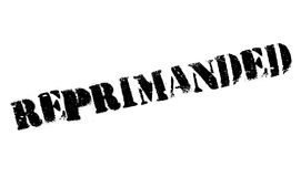 Reprimanded rubber stamp Royalty Free Stock Photos