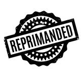 Reprimanded rubber stamp Stock Photo