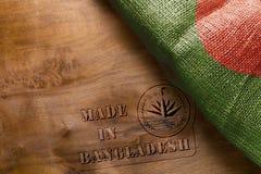Reprint na drewnianej powierzchni - Robić w Bangladesz Zdjęcia Stock